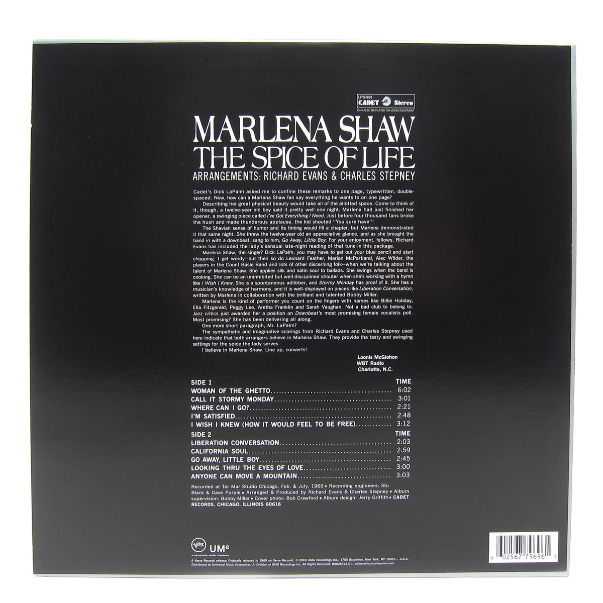 Marlena Shaw: The Spice of Life Vinyl LP