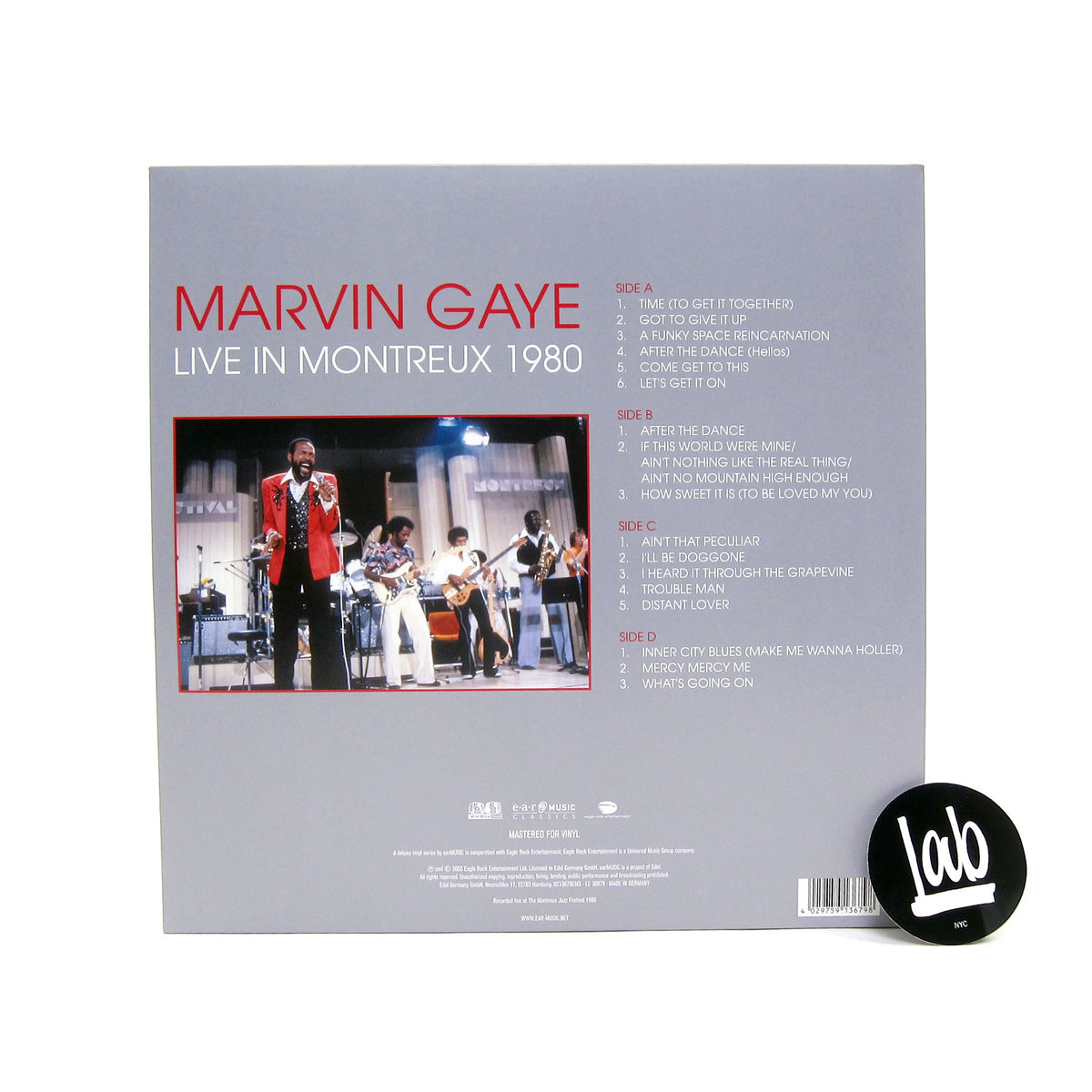 Marvin Gaye: Live At Montreux 1980 Vinyl