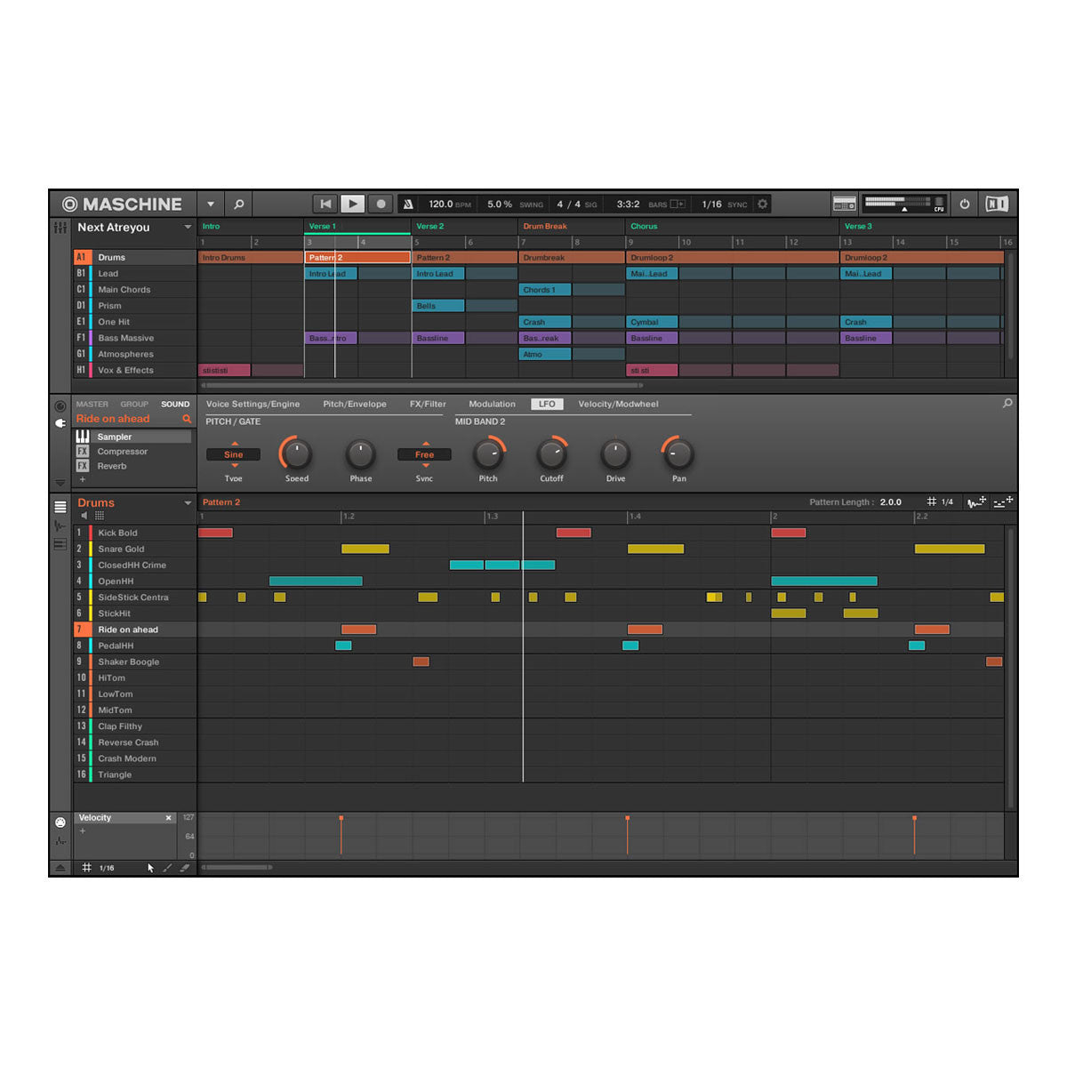 Native Instruments: Maschine Studio - Black screen 2