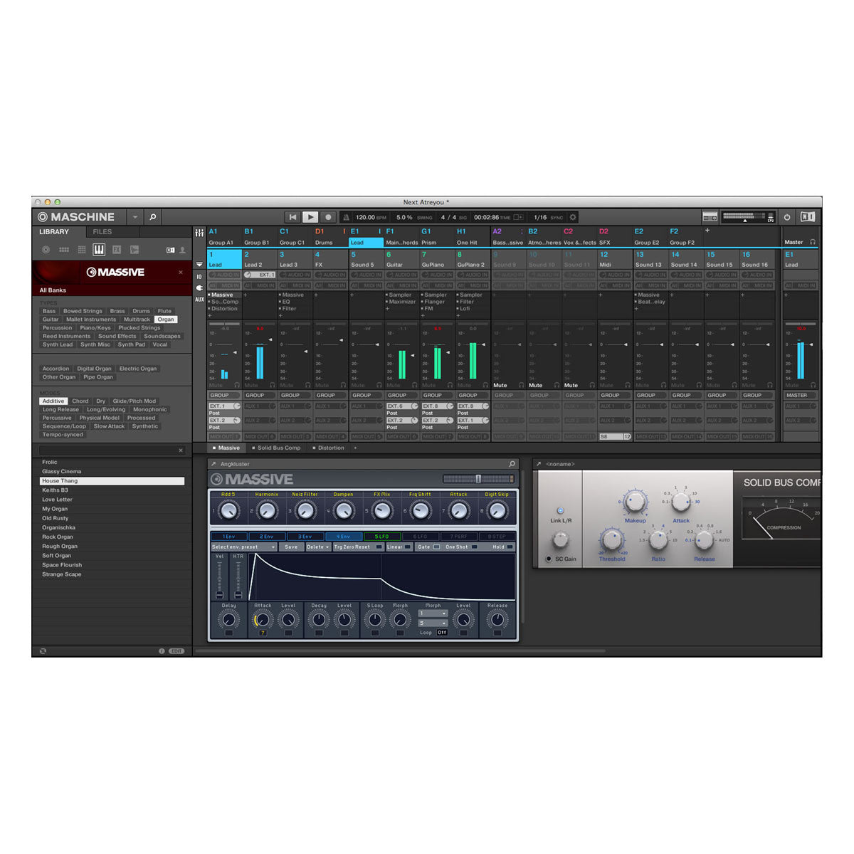 Native Instruments: Maschine Studio - Black screen