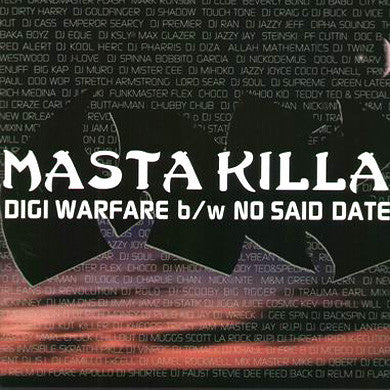 Masta Killa: Digi Warfare / No Said Date (RZA) 12""