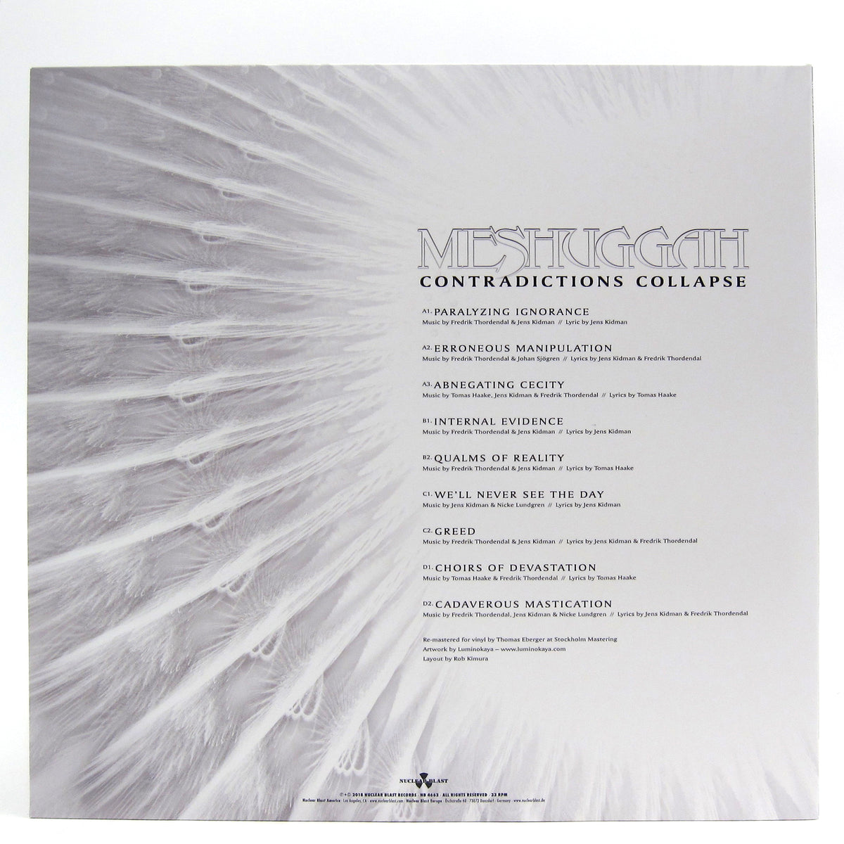 Meshuggah: Contradictions Collapse (Indie Exclusive Colored Vinyl) Vinyl 2LP