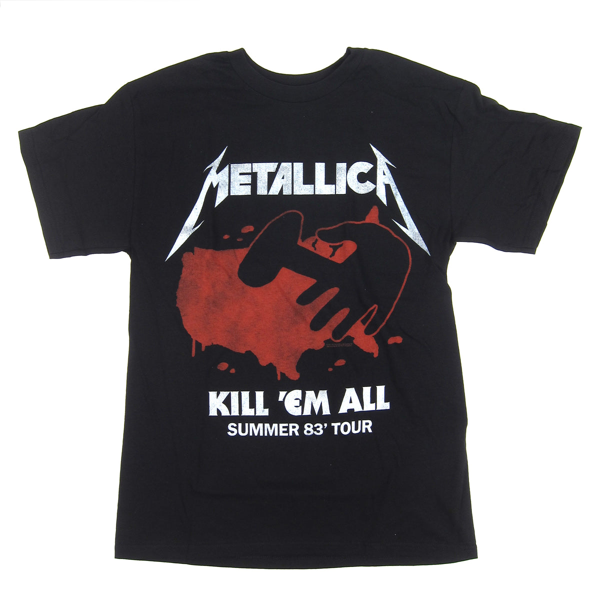 Metallica: Kill Em All Summer '83 Tour Shirt - Black