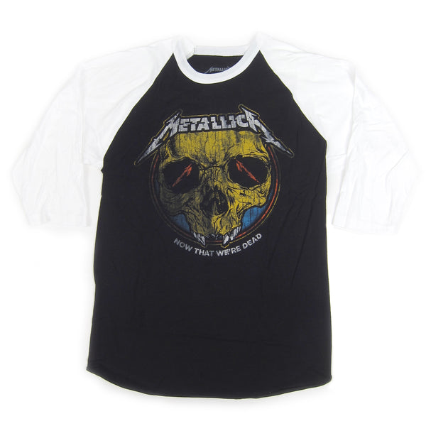 Metallica: Now That We're Dead Raglan Baseball Shirt - Black / White