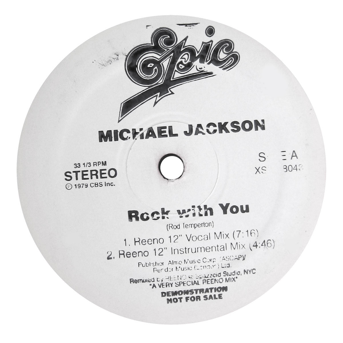 Michael Jackson: Rock With You / P.Y.T. Reeno Remix Vinyl 12""