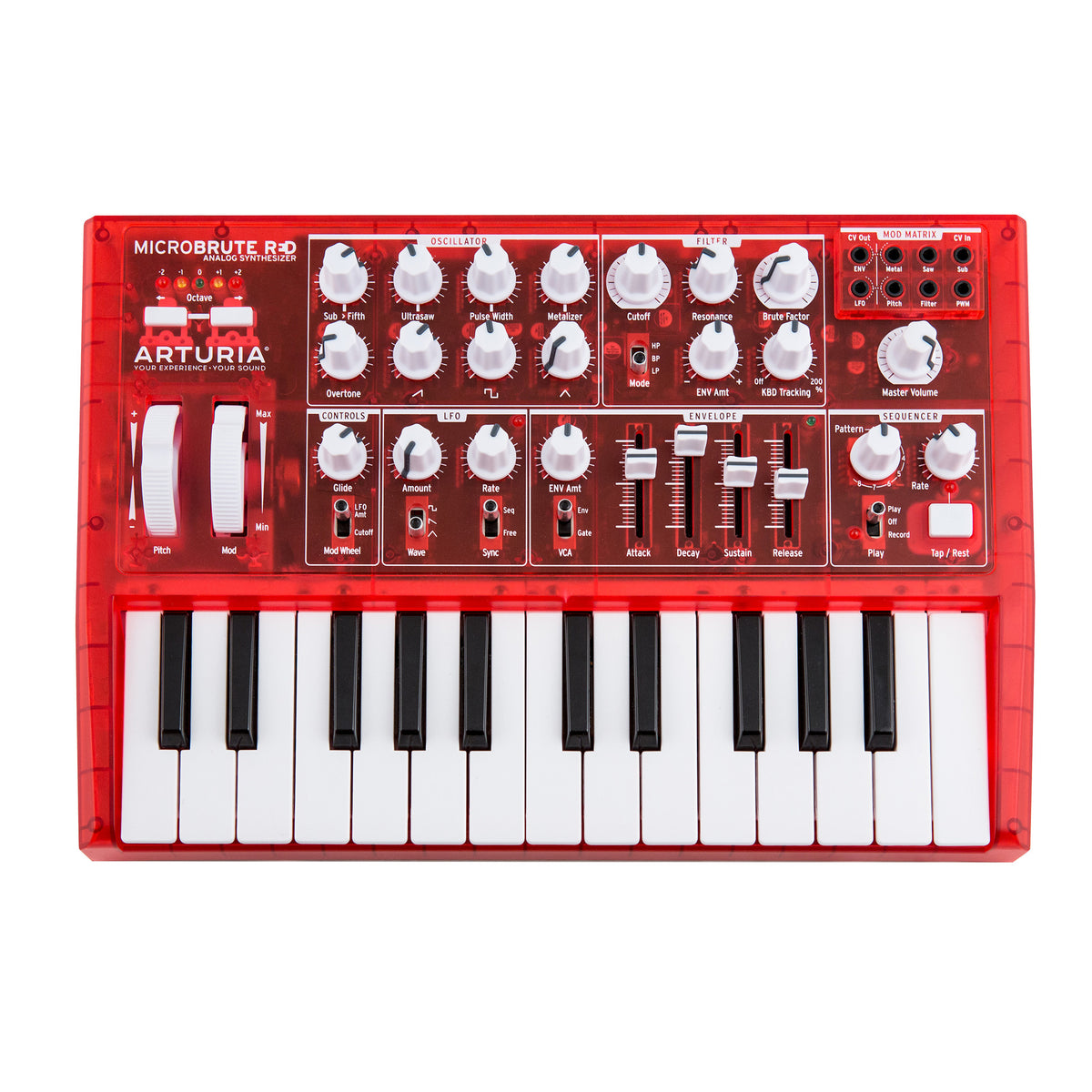 Arturia: Microbrute Analog Synthesizer - Limited Edition Red