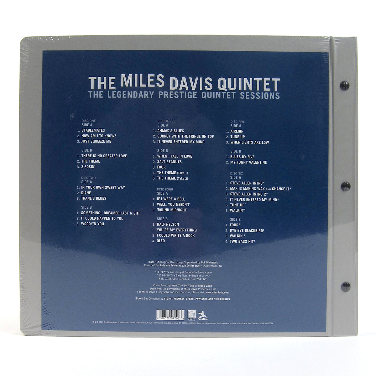 Miles Davis Quintet: The Legendary Prestige Quintet Sessions Vinyl 6LP