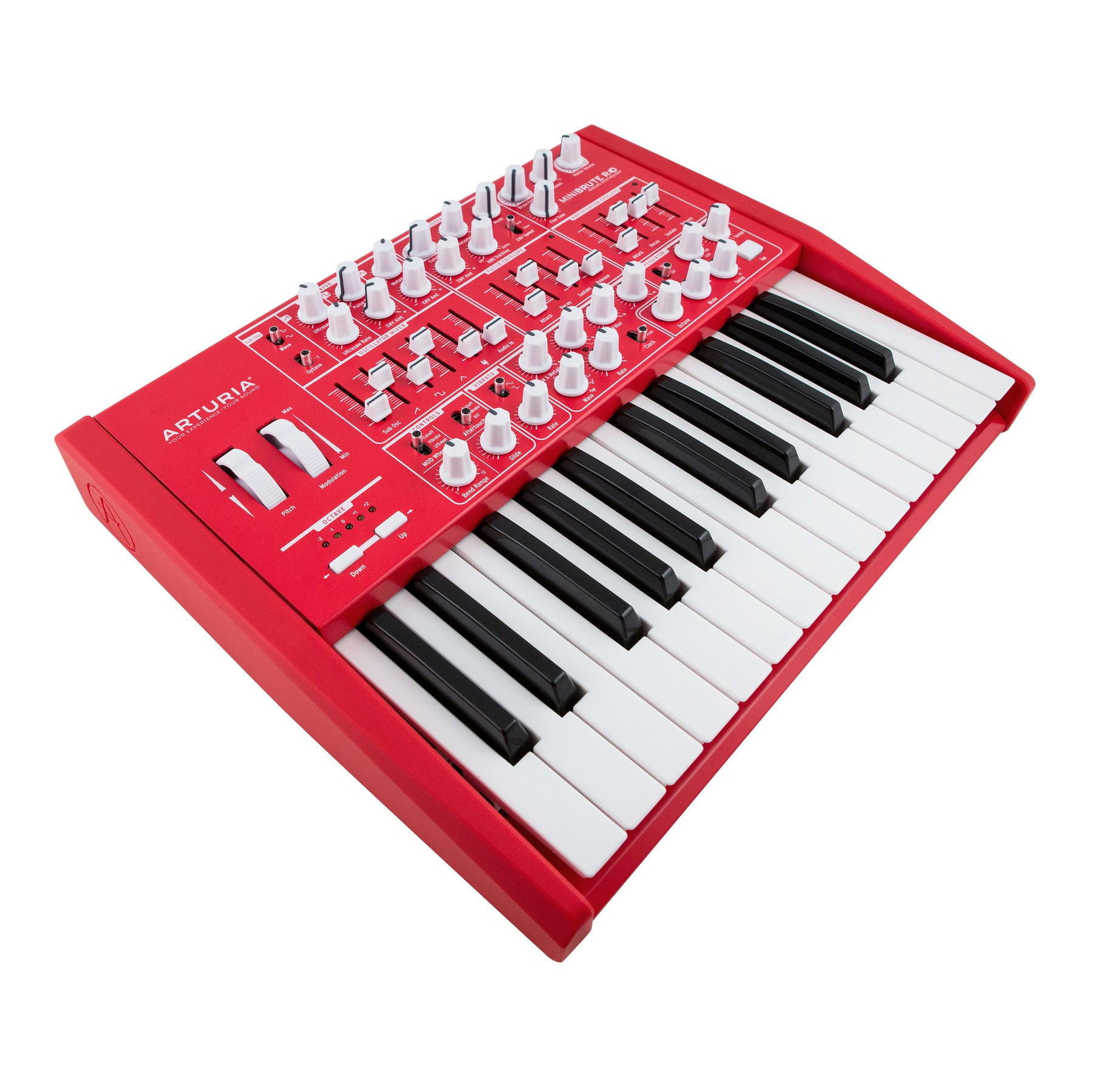 arturia minibrute analog synthesizer limited edition red. Black Bedroom Furniture Sets. Home Design Ideas