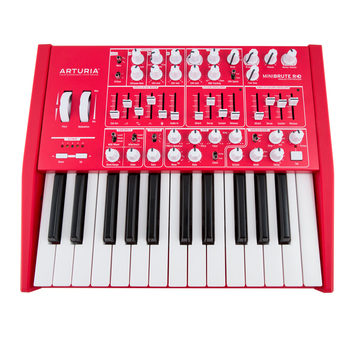 Arturia: MiniBrute Analog Synthesizer - Limited Edition Red