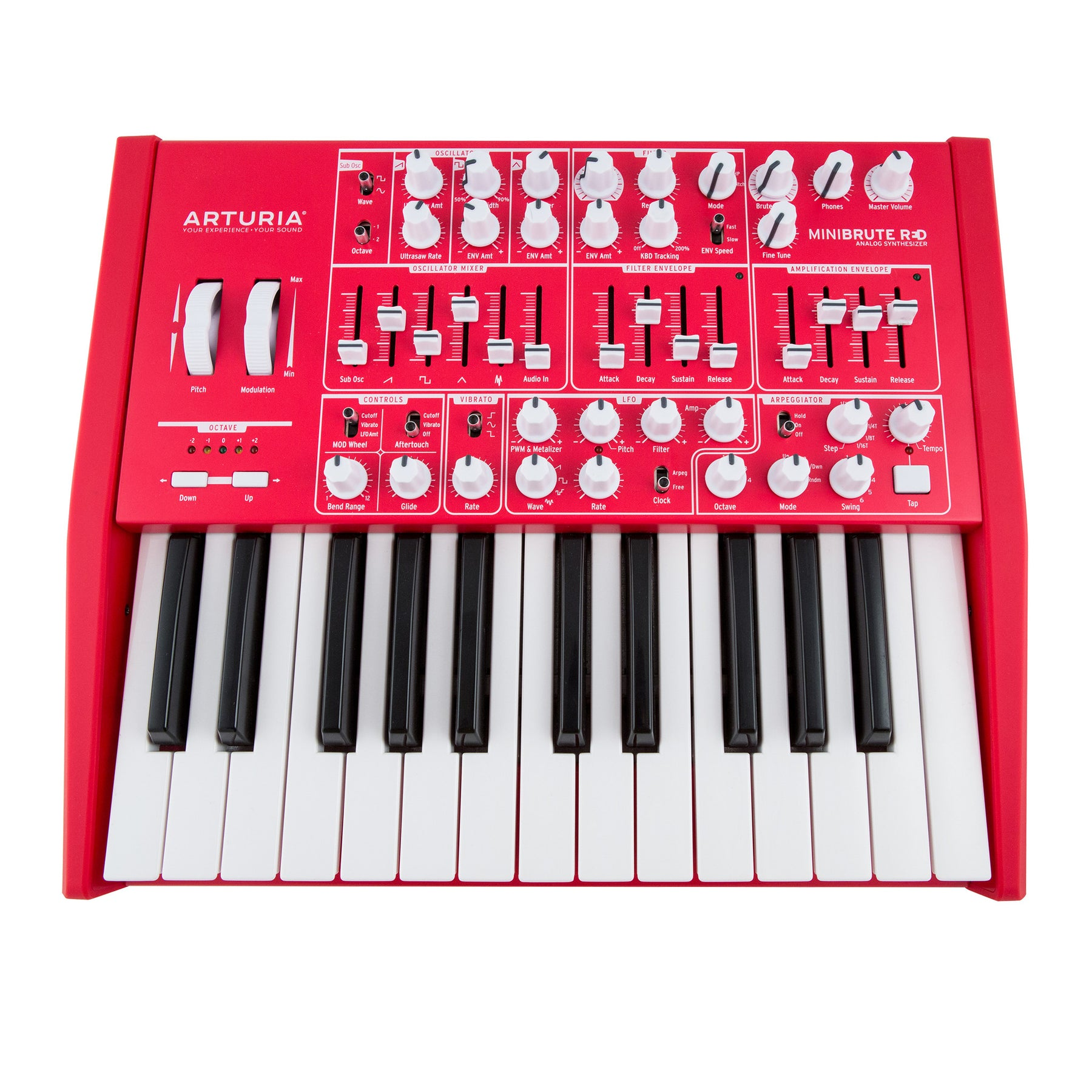 Arturia Minibrute Analog Synthesizer Limited Edition Red Mono To Stereo