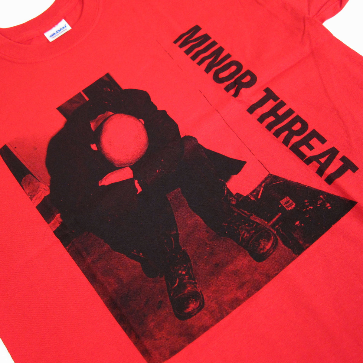 Minor Threat: LP Shirt - Red detail