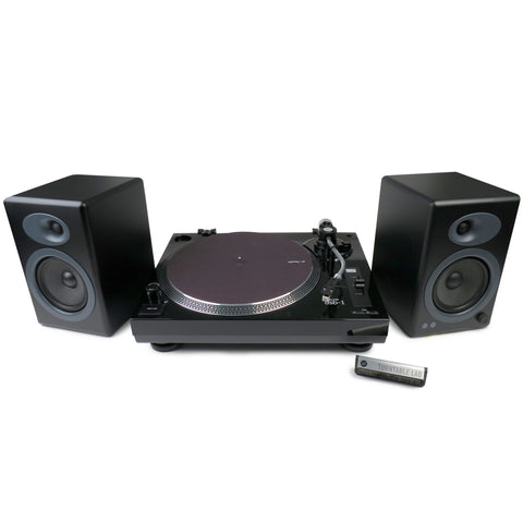 Music Hall: MMF USB-1 Turntable + Audioengine A5+ Speakers Package