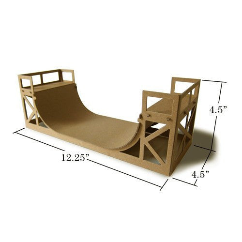 Boundless Brooklyn: Halfpipe Skateboard Ramp Model Kit