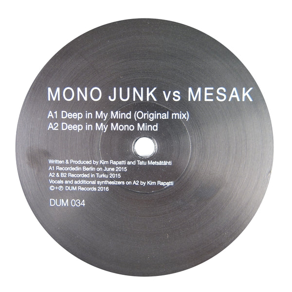 Mono Junk vs Mesak: Deep In My Mind Vinyl 12""