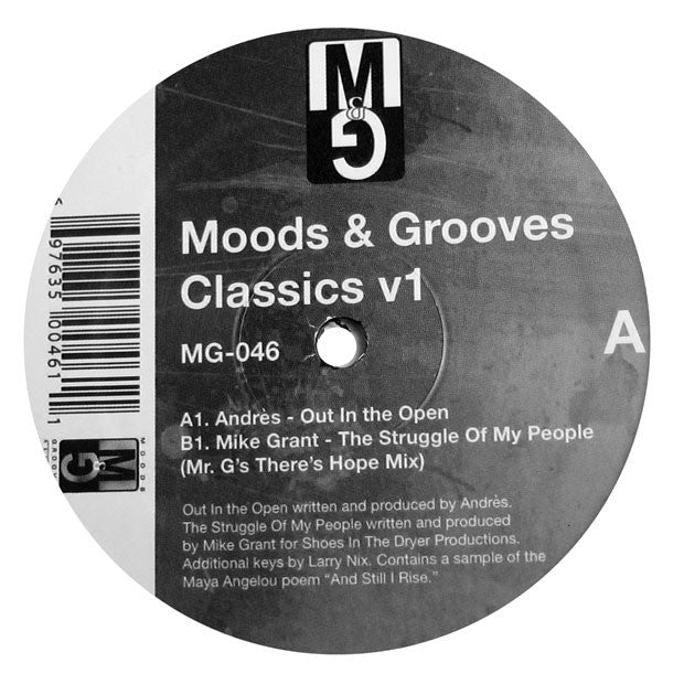 Andres: Moods and Grooves Classics Vol.1 (Mike Grant) 12""