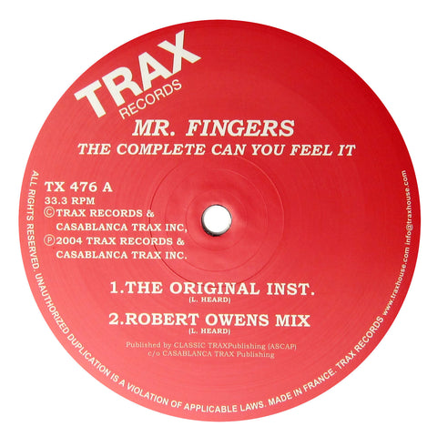 Mr. Fingers: The Complete Can You Feel It Vinyl 12""