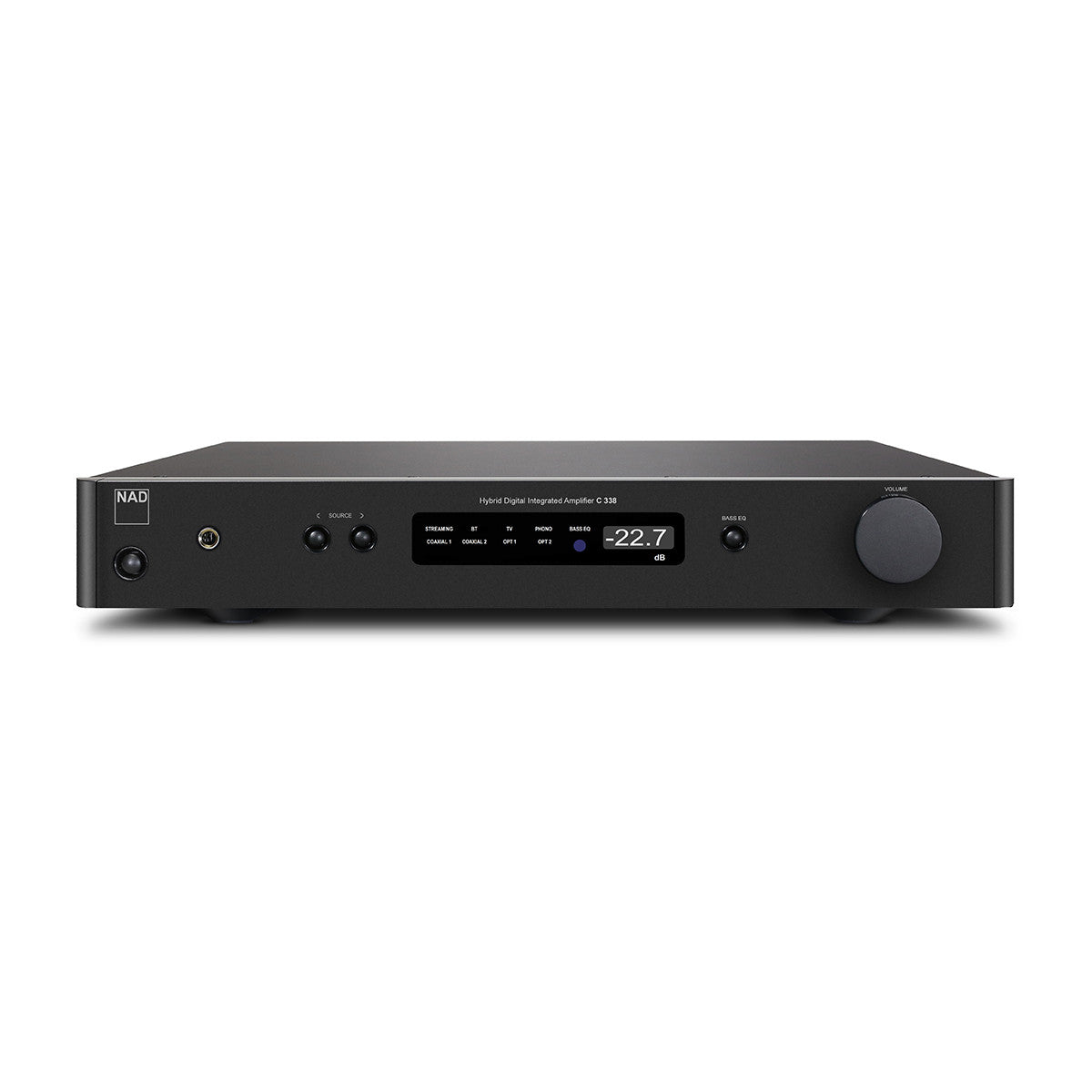 NAD: C338 Hybrid Digital Integrated Amplifier w/Chromecast, Bluetooth, Phono Preamp