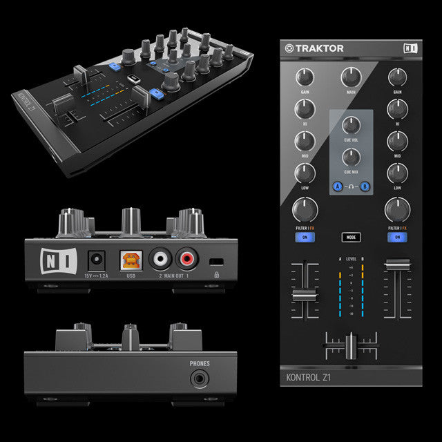 Native Instruments: Traktor Kontrol Z1 DJ Mixer / Interface - angles