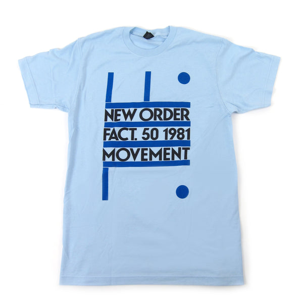 New Order: Fact. 50 1981 Movement Shirt - Light Blue