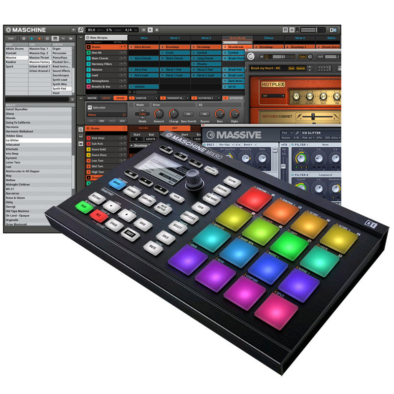 Native Instruments Maschine Mikro MK2 with software