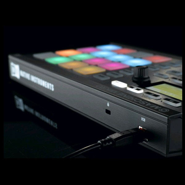 Native Instruments: Maschine Mikro MK2 Groove Production Studio black back