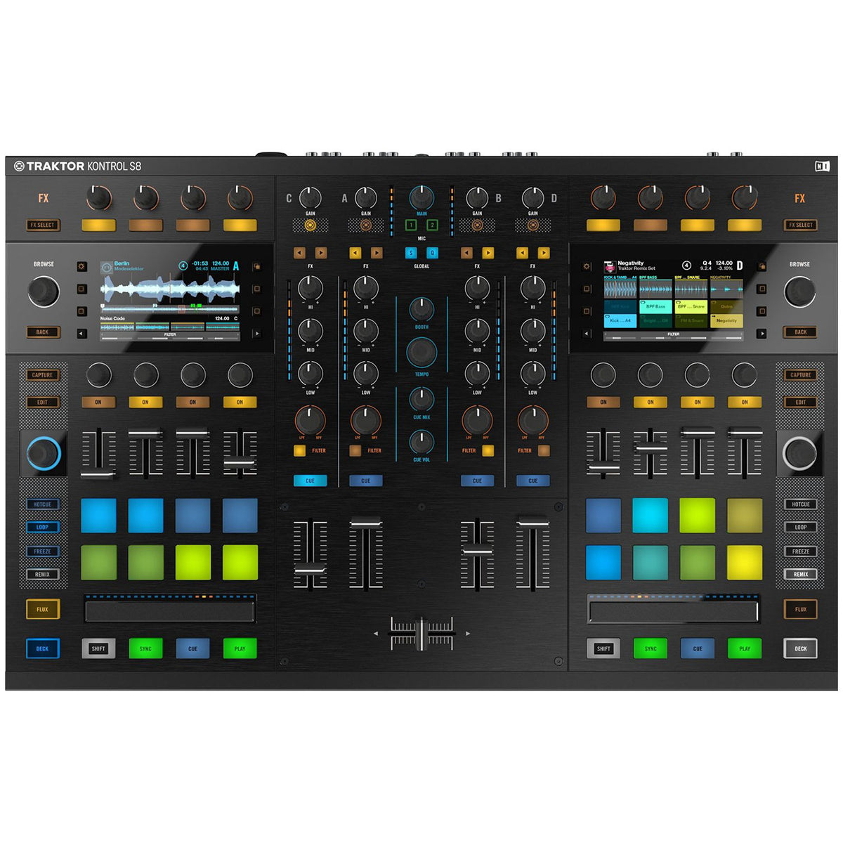 Native Instruments: Traktor Kontrol S8 DJ Controller top