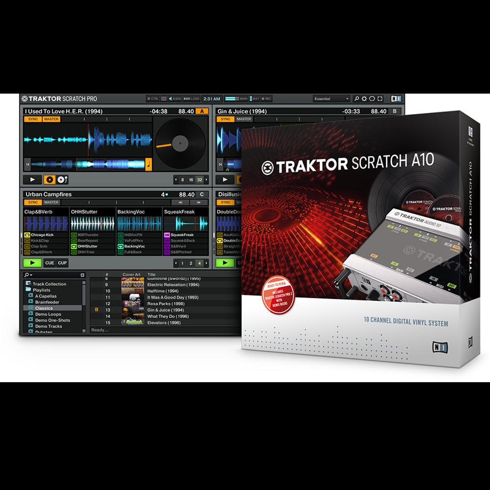 Native Instruments: Traktor Scratch A10 Digital DJ System box
