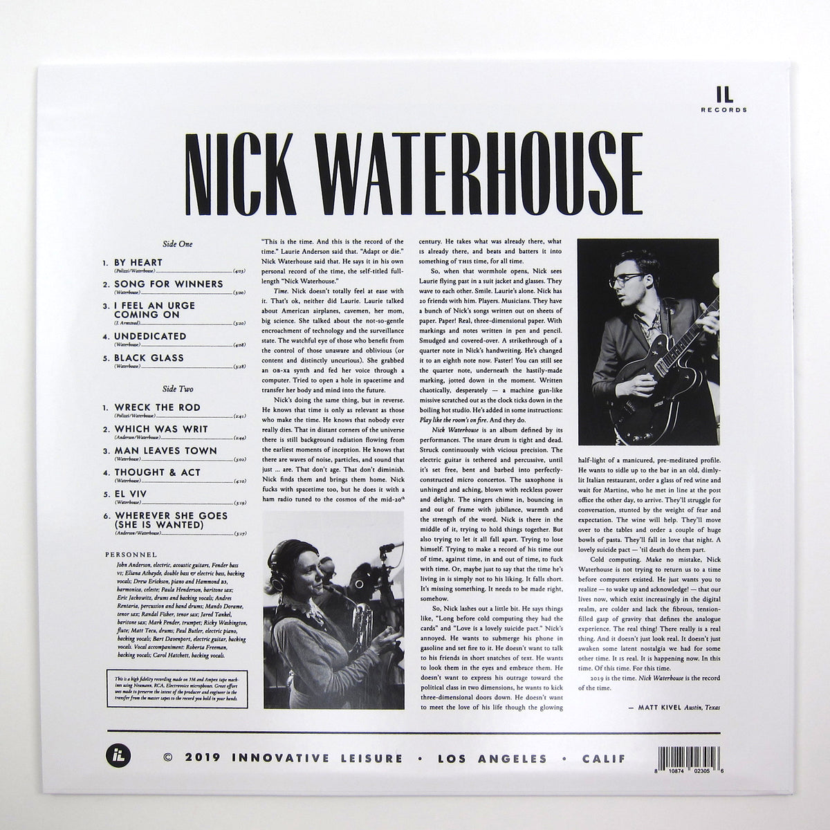 Nick Waterhouse: Nick Waterhouse Vinyl LP