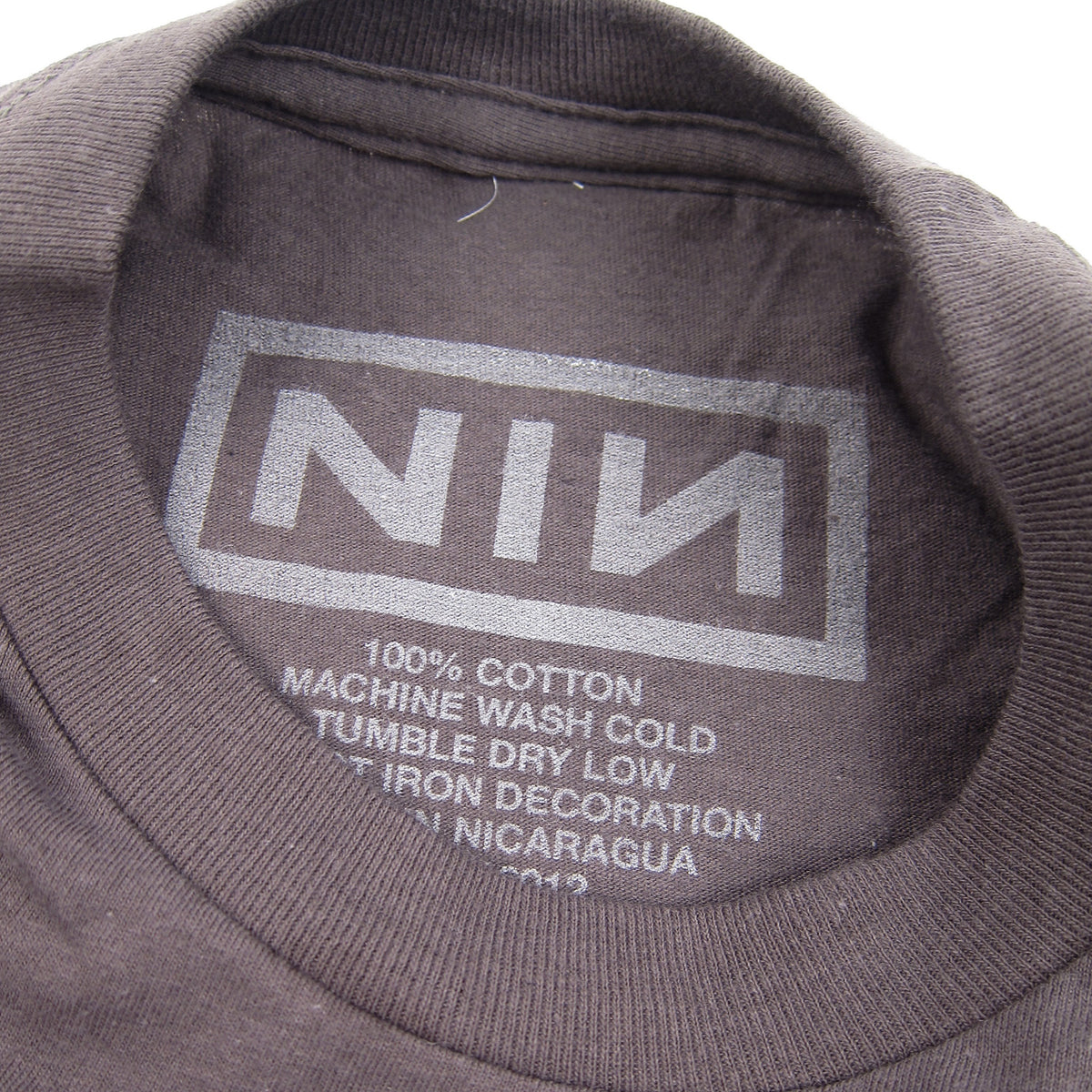Nine Inch Nails: Black Logo Shirt - Charcoal