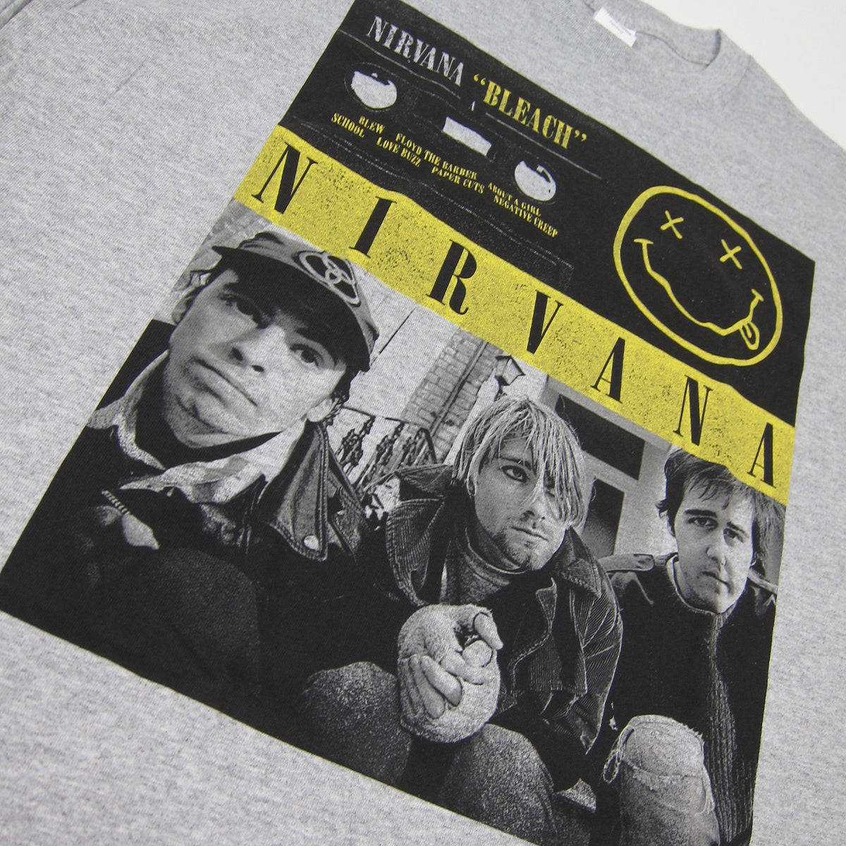 Nirvana: Bleach Cassette Photo Shirt - Heather Grey