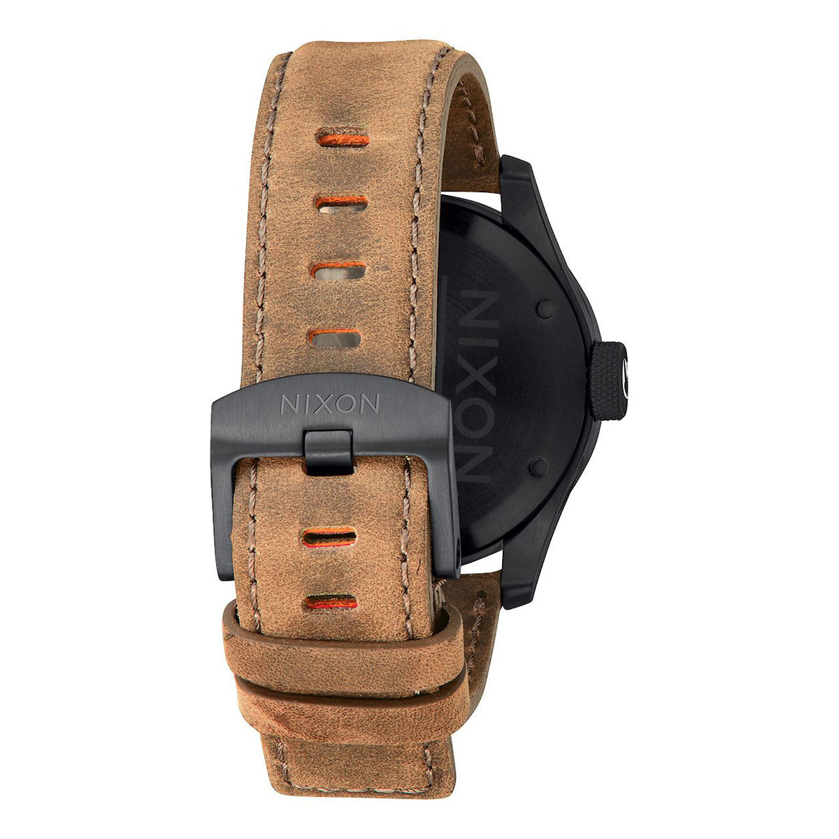 Nixon: Safari Leather Watch - All Black / Surplus