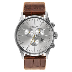 Nixon: Sentry Chrono Watch - Saddle Gator