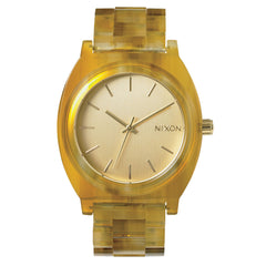 Nixon: Time Teller Acetate Watch - Light Gold / Amber