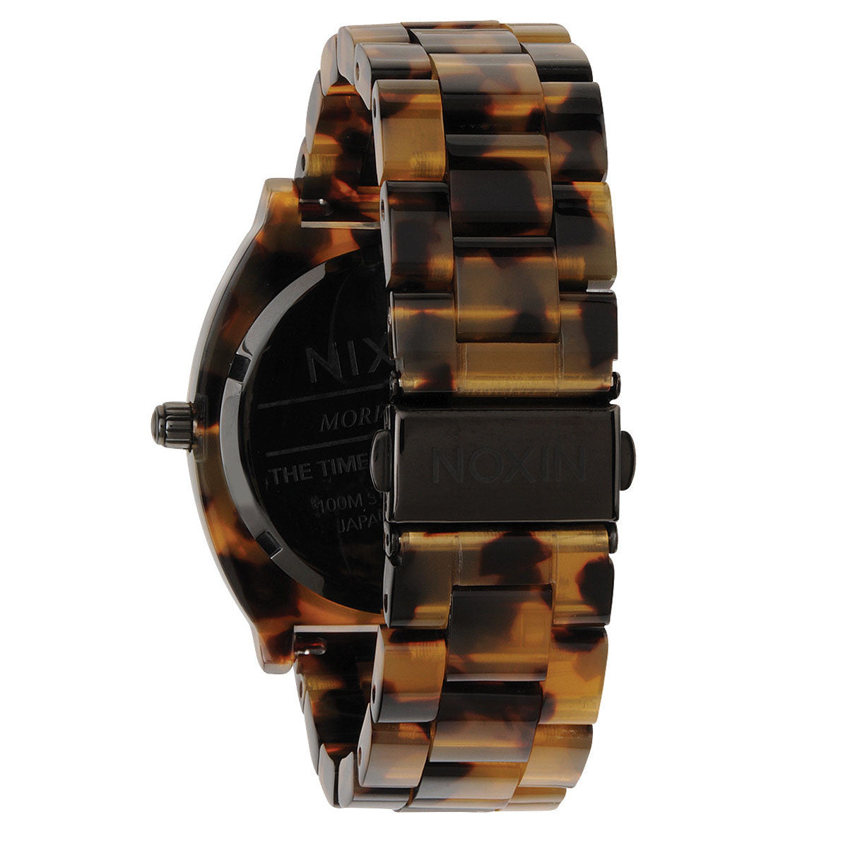Nixon: Time Teller Acetate Watch - Tortoise back
