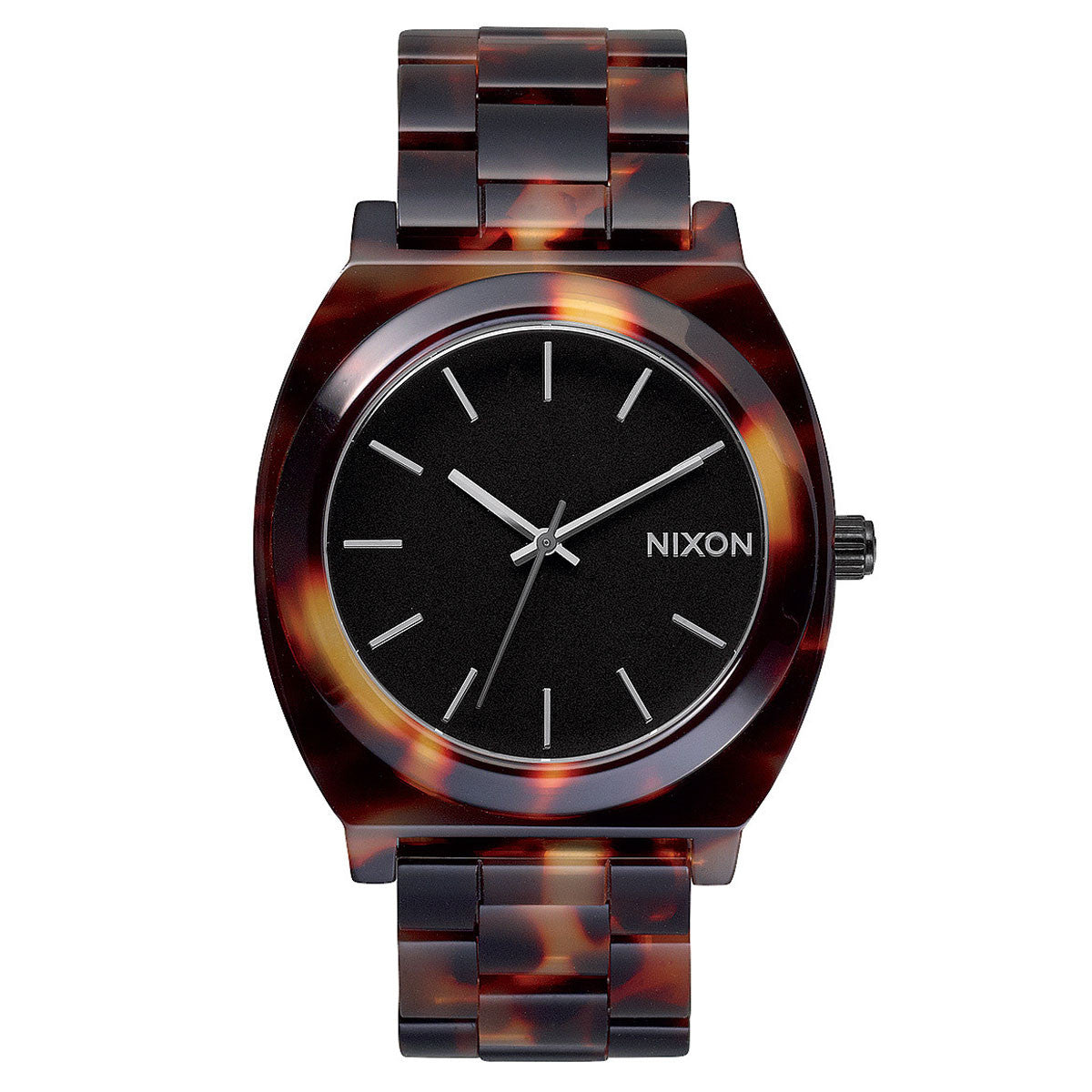 Nixon: Time Teller Acetate Watch - Tortoise