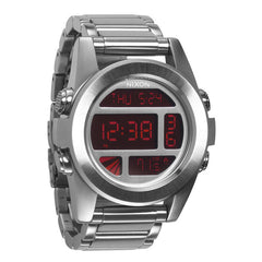 Nixon: Unit SS Watch - Silver / Red