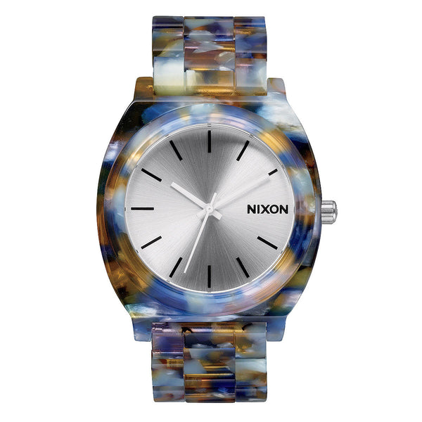 Nixon: Time Teller Acetate Watch - Watercolor Acetate