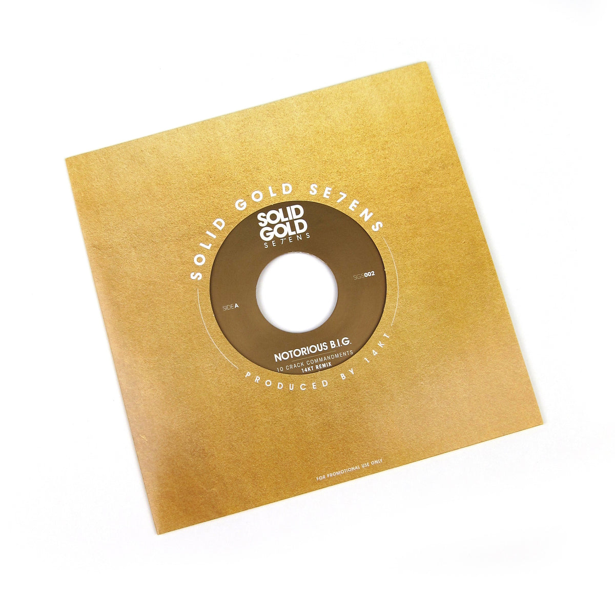 Notorious BIG: 10 Crack Commandments (14KT Remix, Colored Vinyl) Vinyl 7""
