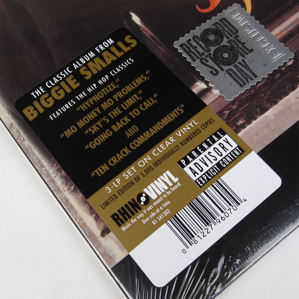 Notorious B.I.G.: Life After Death Clear Vinyl 3LP (Record Store Day 2014) 2