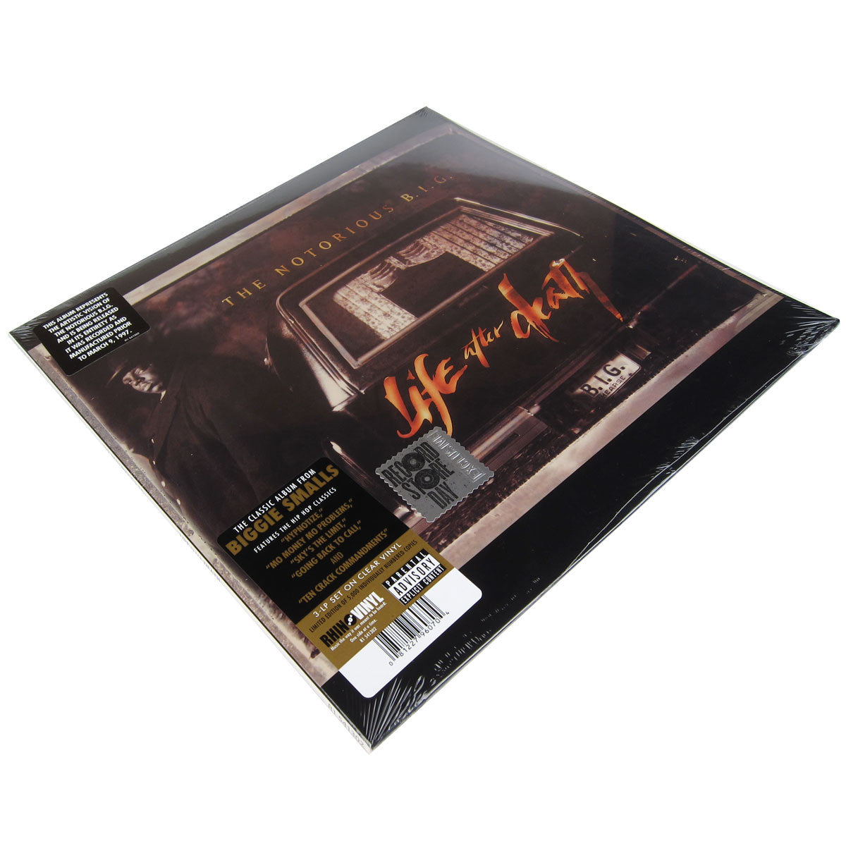 Notorious B.I.G.: Life After Death Clear Vinyl 3LP (Record Store Day 2014)