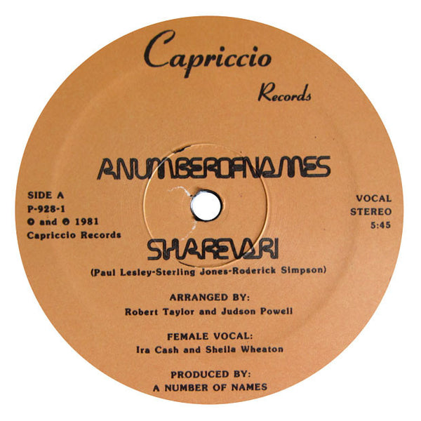 A Number Of Names: Sharevari 12""