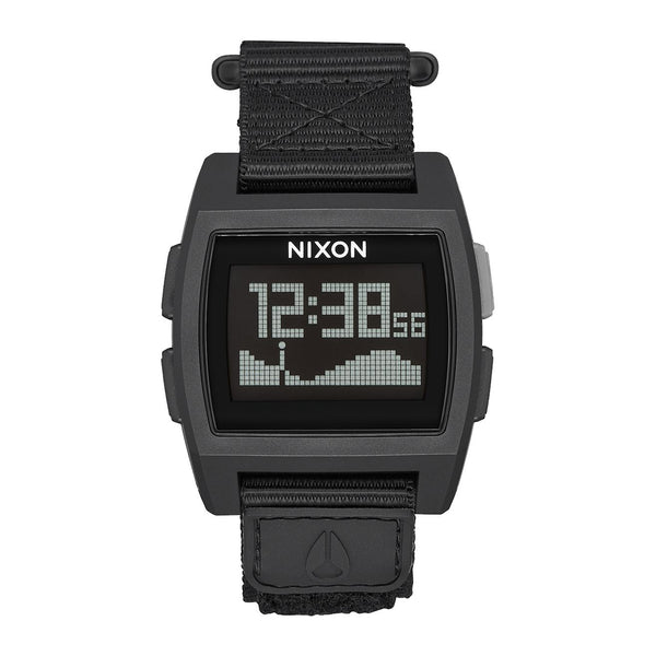Nixon: Base Tide Nylon Watch - All Black