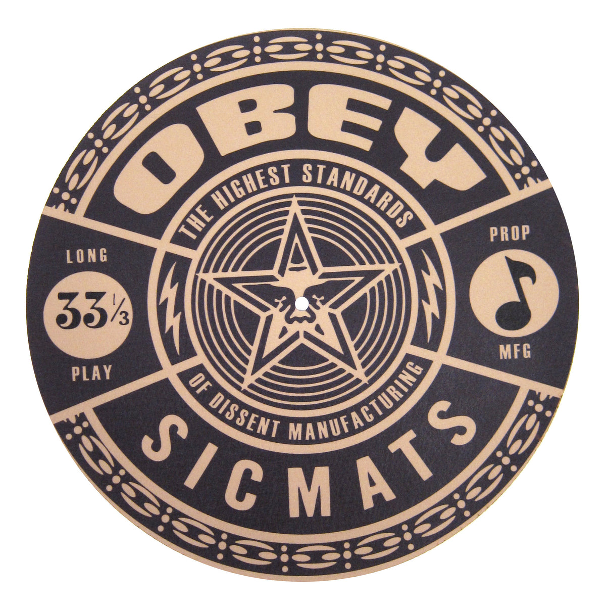 Sicmats: Obey Slipmats (Pair) - Black / Gold