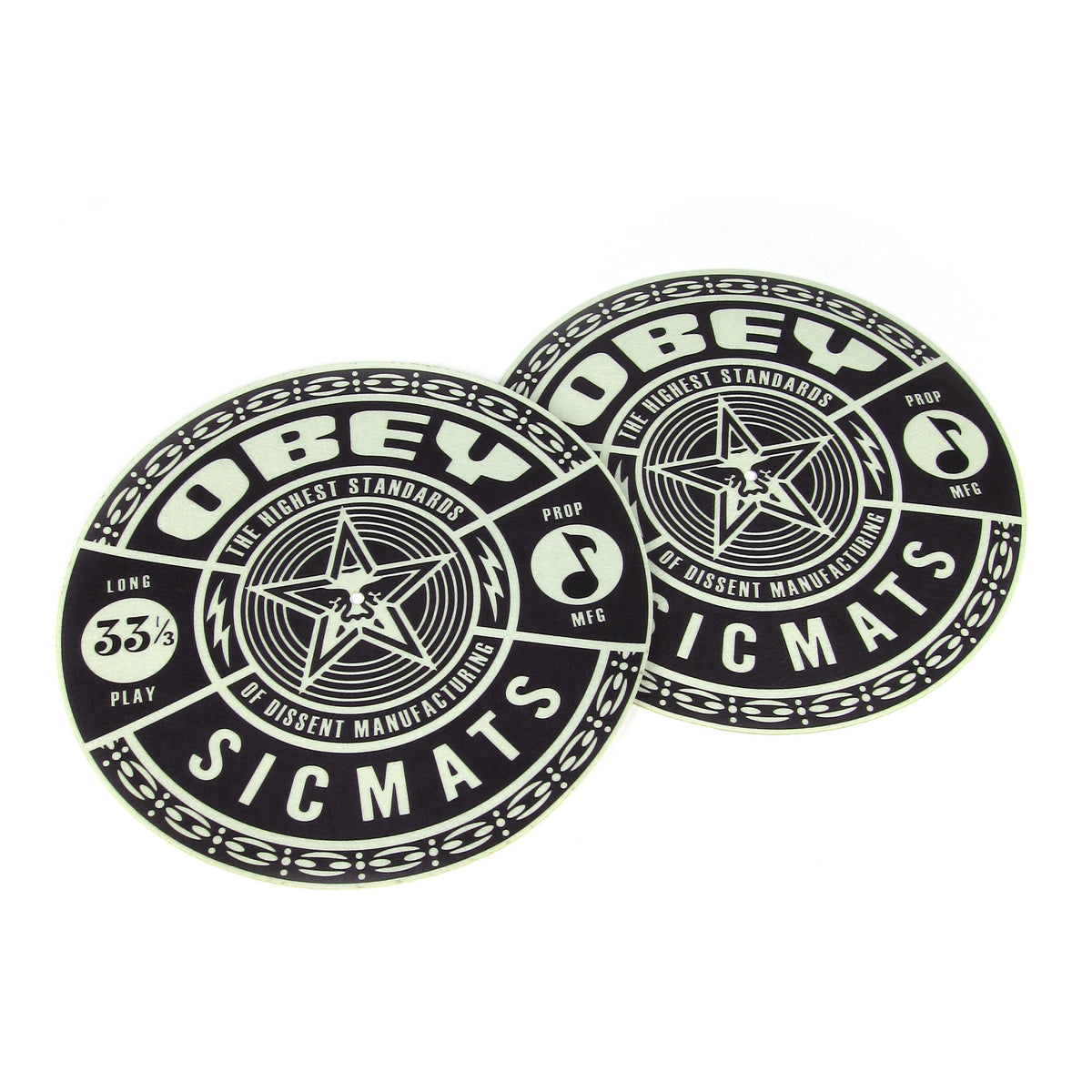 Sicmats: Obey Slipmats (Pair) - Black / Green