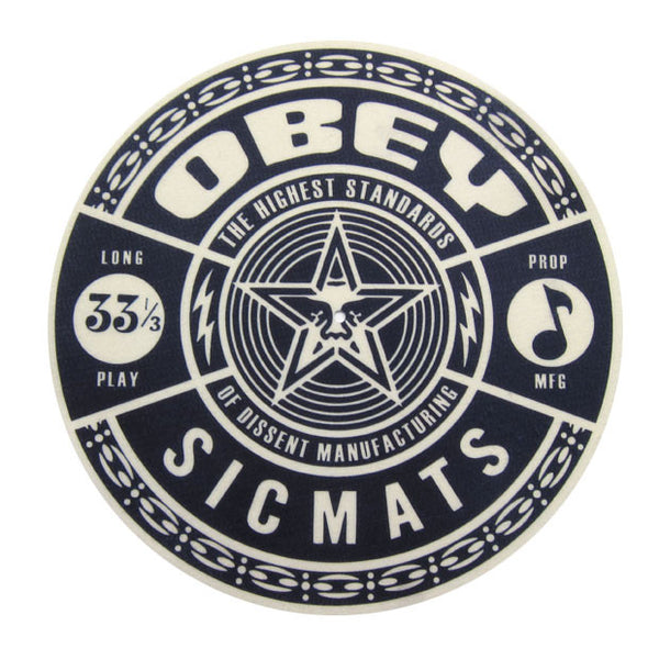 Sicmats: Obey Slipmats (Pair) - Black / White Limited