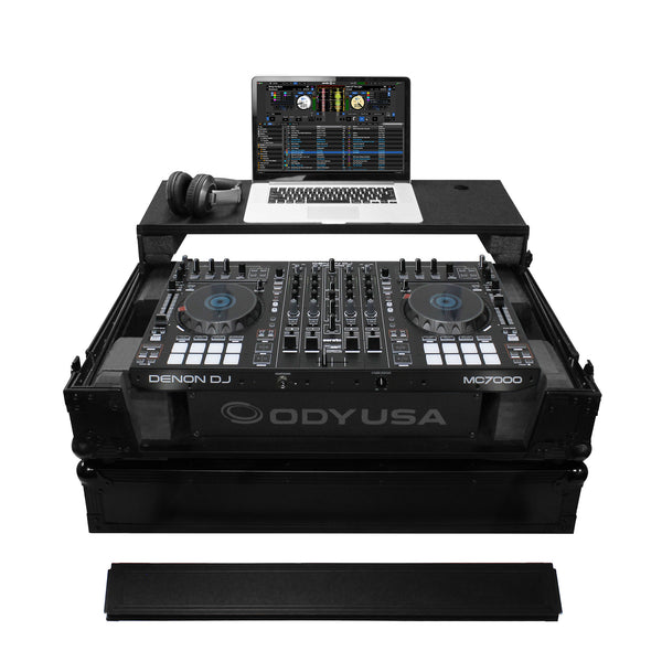 Odyssey: Black Label Flight Zone Glide Style Case For Denon MC7000 (FZGSMC7000W2BL)