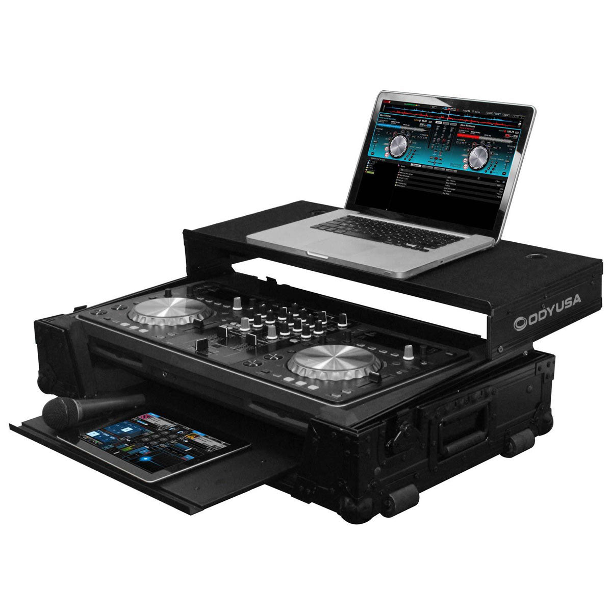 Odyssey: Black Label Pioneer XDJ-R1 Controller Glide Style Case with Bottom GT Glide Tray (FZGSPIXDJR1GTBL)