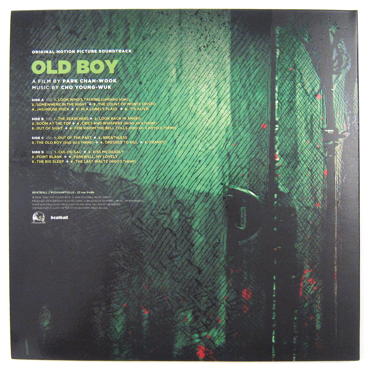 Cho Young-wuk: Oldboy Soundtrack - Vengeance Trilogy Part. 2 (Colored Vinyl) Vinyl 2LP