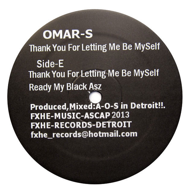 Omar-S: Thank You For Letting Me Be Myself Part 2 2x12""