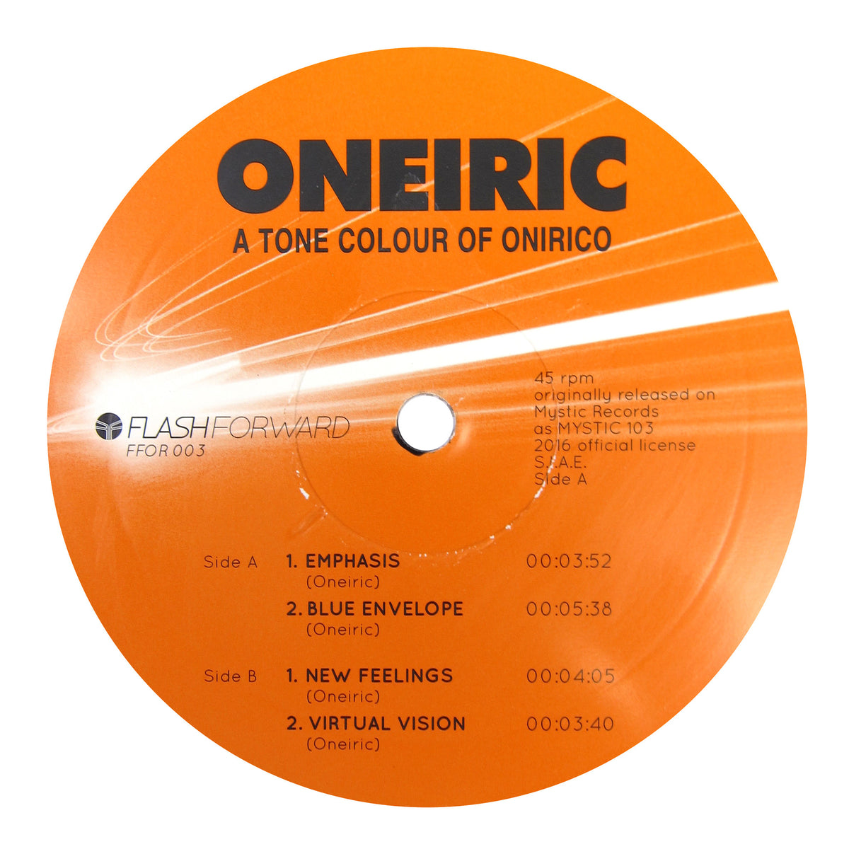 Oneiric: A Tone Colour Of Onirico Vinyl 12""